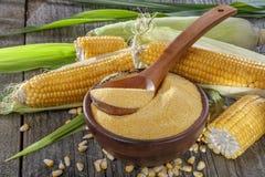 Polenta de poussières abrasives de maïs Photos stock