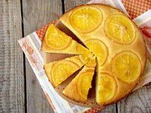 Polenta e dolce arancio del burro Immagini Stock Libere da Diritti