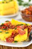 Polenta with Hogao Royalty Free Stock Photo