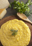 Polenta - Italian Traditional Dish Stock Photo