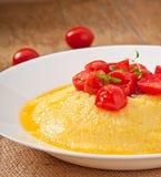 Polenta - Italian traditional food Royalty Free Stock Photo