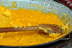 Polenta in a large bowl Royalty Free Stock Image