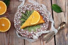 Polenta and lemon butter cake Stock Images