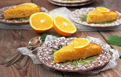 Polenta and lemon butter cake Royalty Free Stock Images