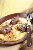 Polenta with meat stock photos