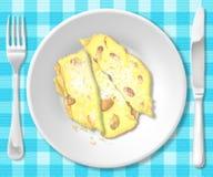 Polenta mit Bohnen Stockfotos