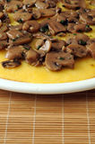 Polenta with mushroom dressing Royalty Free Stock Photos