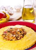 Polenta with Mushrooms Stock Image