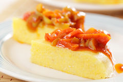 Polenta with pepper Royalty Free Stock Images