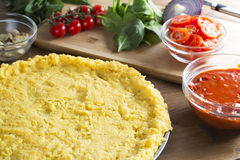 Polenta Pizza Crust Royalty Free Stock Photo