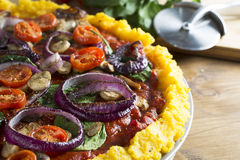 Polenta Pizza Royalty Free Stock Images