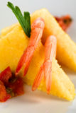 Polenta with Shrimp Stock Photo