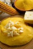 Polenta und Käse Stockfoto