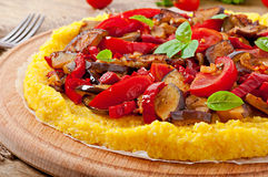 Polenta with vegetables Stock Photography