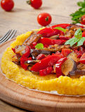 Polenta with vegetables Royalty Free Stock Image