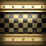 Polerad guld- och svart bakgrund Royaltyfri Foto