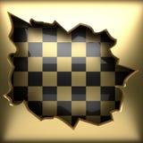 Polerad guld- och svart bakgrund Royaltyfria Bilder