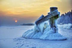 polerad vinter Arkivbilder