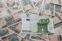 Polerad Zloty vs Euro 2 Royaltyfri Foto
