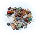 Polerade dråsade stenar royaltyfri fotografi