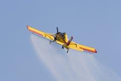 Polerat jordbruks- flygplan PZL-106 Kruk Fotografering för Bildbyråer