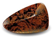 Polerat stycke av obsidian Fotografering för Bildbyråer