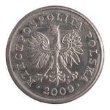 Polermedel 20 groszy mynt Fotografering för Bildbyråer