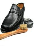 polermedel shoes ditt Royaltyfri Bild