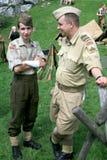 polermedel tjäna som soldat wwii Arkivbild