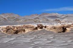 Polermedelstenar på Campo de Piedra Pomez, Catamarca, Argentina Arkivfoton