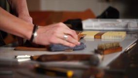 Polerowniczej końcówki rzemienny produkt, handmade notatnik pokrywa zbiory