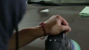 Polerowniczy czapeczka samochód zbiory wideo