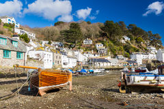 Polerro Harbour Cornwall. Boats in Polerro Harbour Cornwall  England UK Europe Stock Image