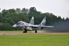 Poleruje Siły Powietrzne Mig-29 Fotografia Royalty Free