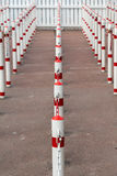 Poles illustrating waiting line Stock Photography