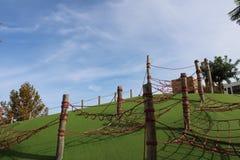 Poles med flätade samman rep fotografering för bildbyråer