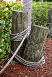Poles with rope Stock Photo