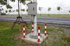 Poles Rounding defense steel Stock Photography