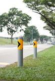Poles to prevent accidents Royalty Free Stock Photos