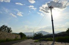 Poles under the sun Royalty Free Stock Photos