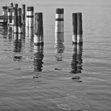 Poles in the wate Stock Photo