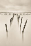Poles in the water -  silence concept Royalty Free Stock Photos