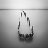 Poles in the water -  silence concept Royalty Free Stock Photo