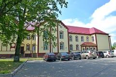 POLESSK,俄罗斯 中央地方医院的看法在夏日 图库摄影