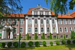 POLESSK,俄罗斯 圣彼德堡状态农业大学的加里宁格勒分支的大厦的看法 库存图片