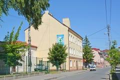 POLESSK,俄罗斯 Kaliningradskaya街在夏日 库存图片