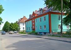 POLESSK,俄罗斯 Sovetskaya街看法在夏日 免版税库存图片