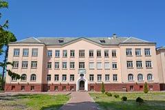 POLESSK, ROSJA Budynek biurowy w letnim dniu Obraz Royalty Free