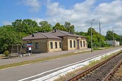POLESSK, RUSLAND Mening van het station Royalty-vrije Stock Foto's