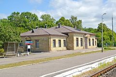 POLESSK, RUSSIA. Building of the railway station Stock Image